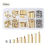 Male Female Hex Brass Spacer Standoff Screw Nut Assortment Kit with Storage Box