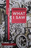 What I Saw: Reports from Berlin 1920-1933, Joseph Roth, 0393325822