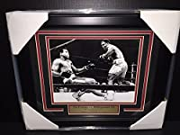 Joe Frazier Vs Muhammad Ali The Fight Of The Century 1971 Framed 8x10 Photo