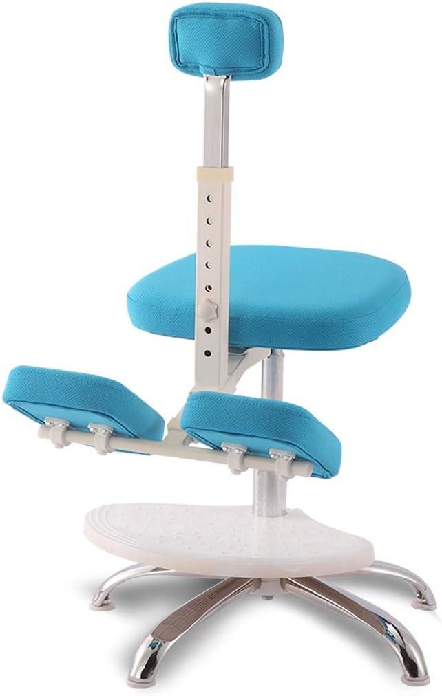 膝間付チェア人間工学に基づいたオフィスチェア学習チェアは1.75メートルに1.1メートルからのお子様には適して良い姿勢を促進します ニーリングチェア HUXIUPING (Color : Blue, Size : With pedals)