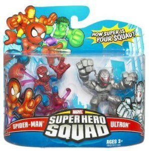 Marvel Super Hero Squad Spider-man and Ultron 3-Inch Scale Figure 2-Pack by Hasbro