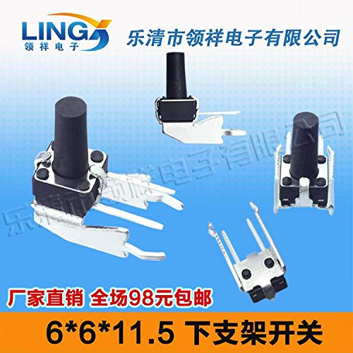 Horizontal Lower Support Bracket with Long Legs Touch Switch 6  6  11.5 Side greenical Press Jog Button 6X6