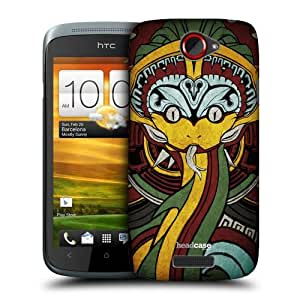 Head Case Designs Coloured Quetzalcoatl Protective Snap-on Hard Back Case Cover for HTC One S