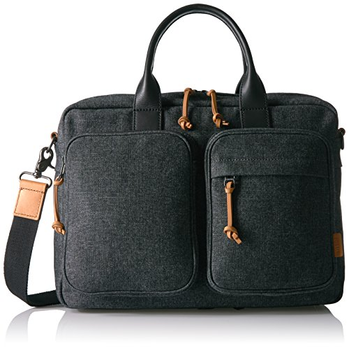 FOSSIL DEFENDER TOP ZIP WORKBAG - GREY by Fossil