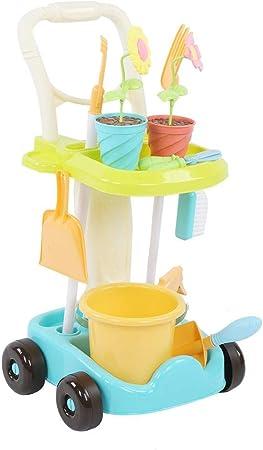 AMONIDA Juguetes educativos interactivos para niños Lindos y Divertidos Material ABS Duradero Juguetes de jardín Uso Seguro Juguetes para el hogar, niños(5980B Gardening Cart): Amazon.es: Hogar