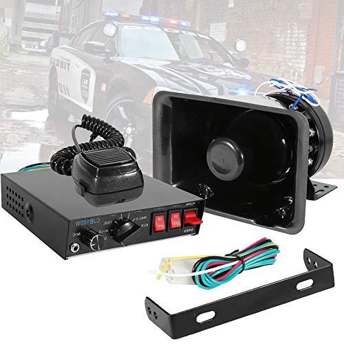Partol Car Siren Speaker 100W 12V 7 Tone Emergency Sound Amplifier with Mic PA Speaker System for Police Cars Fighter Vans Trucks