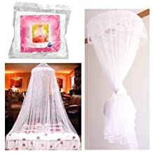 Bed Canopy Mosquito Fly Bug Insect Net Netting Screen Mesh Single Double Bed (white)