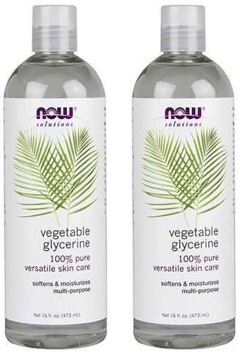 Vegetable Glycerin Water - NOW Solutions Glycerine Vegetable, 16-Fluid Ounces (32 oz) pack of 2