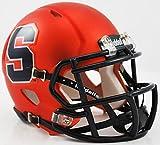 SYRACUSE ORANGEMEN NCAA Riddell Revolution SPEED Mini Football Helmet (MATTE ORANGE)