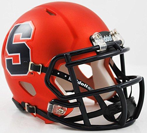 SYRACUSE ORANGEMEN NCAA Riddell Revolution SPEED Mini Football Helmet (MATTE ORANGE) (Football Orangemen Ncaa Syracuse)