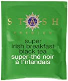 Stash Tea Super Irish Breakfast Black Tea, 100 Count Box of Tea Bags in Foil (packaging may vary)