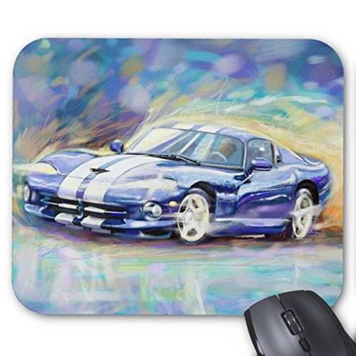 UOOPOO Blue Dodge Viper Mouse Pad Rectangle Non-Slip Rubber Personalized Mousepad Gaming Mouse Pads 8.2 x 10.2 x 0.12 Inch(Pattern: Print)