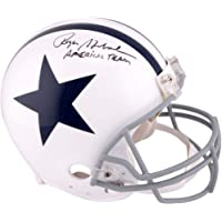 $239 » Roger Staubach Dallas Cowboys Signed Autograph Full Size Helmet Americas Team Inscribed JSA Certified