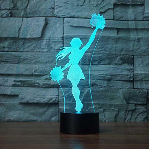 Cheerleader Christmas Gifts - 3D Novelty Cheerleader Night Light 7