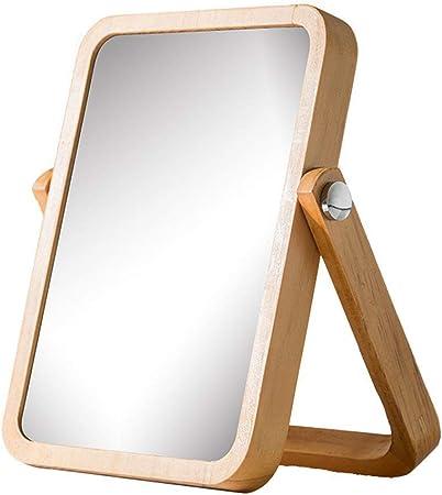 Miroirs De Table Miroir De Bureau En Bois Massif Simple Miroir
