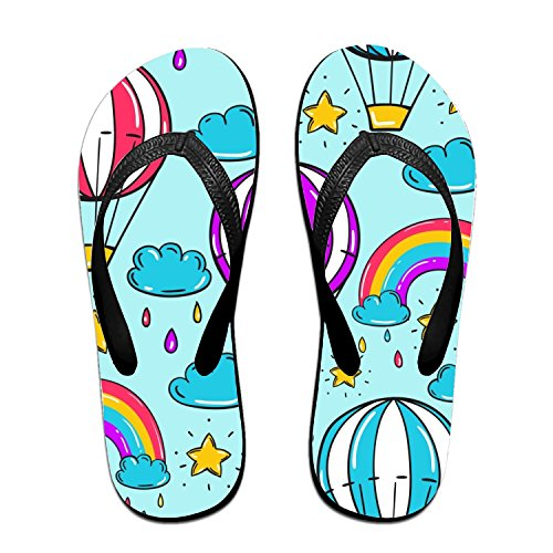 - Michael Trollpoe Rainbow Star Flip Flops Funny Sandy Flat Thong Sandals Slipper Mat for Men Women