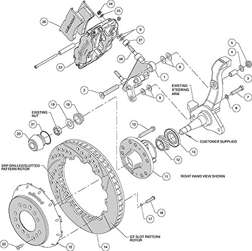 Amazon Com Wilwood Disc Brake Kitfront58 68 Fordmercury14