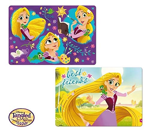 Disney Princesses Placemat - Disney Rapunzel Girls 3D Table Mat Placemat Reusable Washable,BPA Free