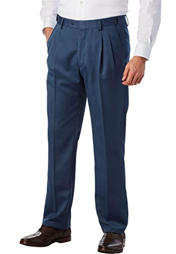 Men's Big & Tall Easy Movement Pleat-Front Expandable Dress Pants