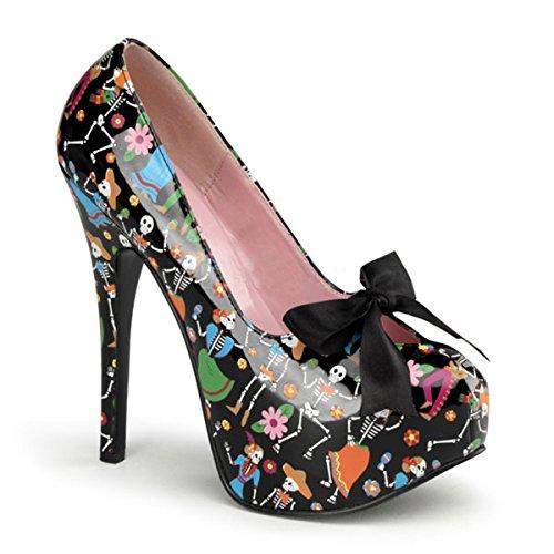Heels-Perfect - Plataforma de material sintético mujer multicolor - negro