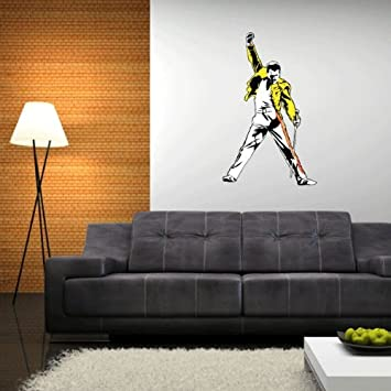 Freddie Mercury Queen Wall Graphic Decal Sticker 25u0026quot; ...