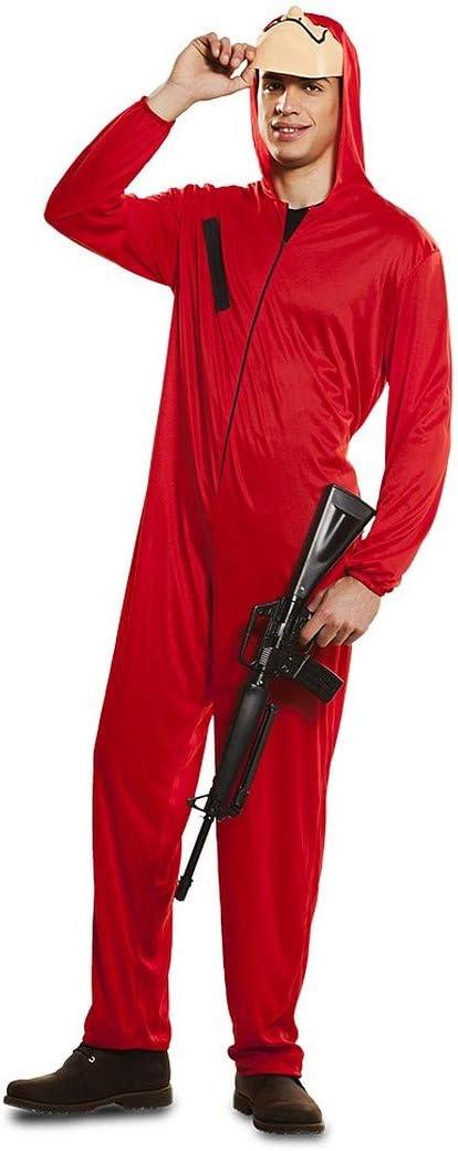 Amakando Llamativo Disfraz Casa de Papel para Caballero / Rojo M/L ...