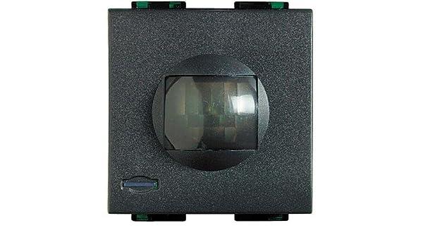 bticino l4610 Detector volumétrico de Presencia Living Light de Rayos Infrarrojos pasivos con Nivel de SENSIBILIDAD Ajustable (Alcance 3 ÷ 9 Metros) 27vdc: ...