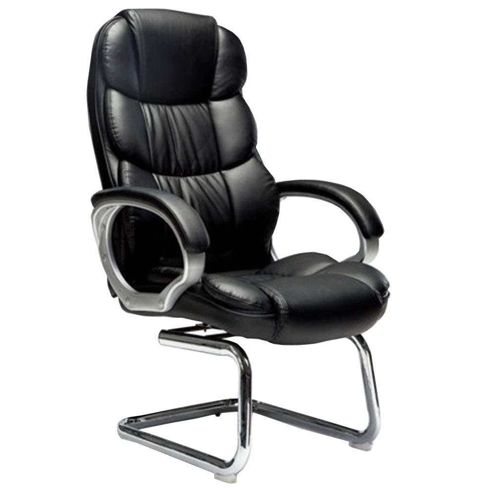 Schwarz LJFYXZ Bow Computer Stuhl, Stühle Home kann gedreht Werden Kunstleder 113x47x55cm (Farbe   SCHWARZ)