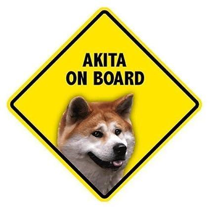 Amazon.com: Akita on board ventana Swinger signo de hogar y ...