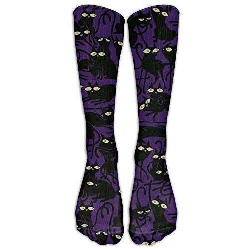 Halloween Fabric Witch Costumes Compression Socks Soccer Socks Knee High Socks Long Stockings For Running,Jogging,Cross Training,Workouts,Basketball,Hiking,Tennis,Cycling,Relief