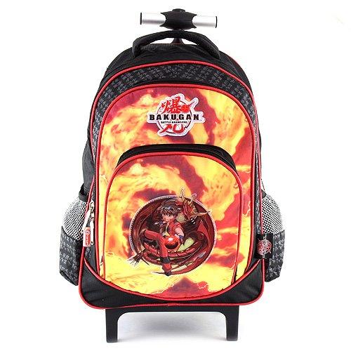 Bakugan 10-5373 Target Zaino Trolley a Ruote, Nero Arancione Giallo