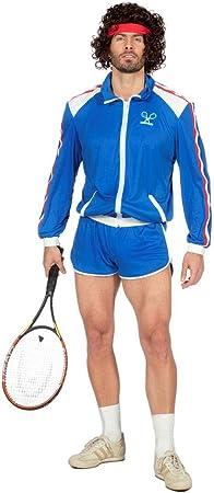 Wilbers Disfraz de tenista ochentero para Hombre: Amazon.es ...