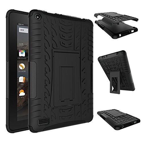 Fire 7 2015 Case, Amazon Fire 7 Case, NOKEA Hybrid Heavy Duty Armor Protection Cover [Anti Slip] [Built-In Kickstand] Skin Case For Amazon Fire 7 5th Generation 2015 Release Tablet (Audio Combination Case Camo)
