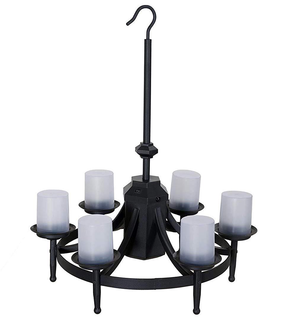 Sunjoy chatham gazebo led outdoor chandelier w remote control