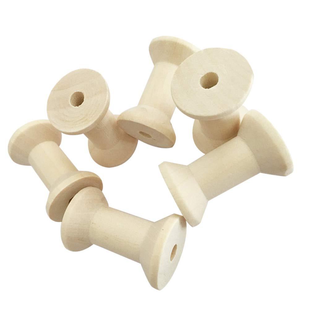 Healifty Spulen Holz Vintage Spulen Zum Basteln N/ähen Handwerk Basteln Deko 5cm 50 St/ück