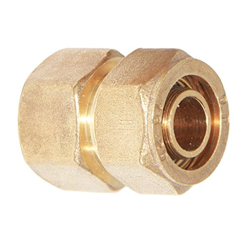 S20 Connector - MonkeyJack Brass Screw Threaded Compression Composite Female Aluminum Pipe Fitting Coupling Connector Joint - Yellow, S20 3/4''