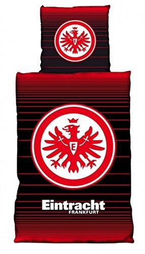 Eintracht Frankfurt Biber Bettwäsche Dünnlinien 135x200 Cm Bettbezug