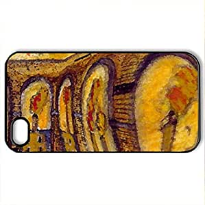 The Aqueduct - Case Cover for iPhone 4 and 4s (Bridges Series, Watercolor style, Black)