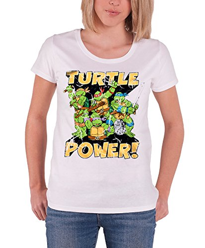 Officially Licensed TMNT Turtle Power! Girly T-Shirt, S to XXL