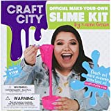 Craft City Karina Garcia DIY Slime Kit | Borax Free | Non-Toxic | Make Your Own Slime with different colors, crunchy, clear, glitter, glow-in-the-dark, cloud slime AND MORE | For Children ages 12+