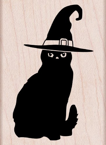 (Hero Arts F5823 Halloween Cat Woodblock)