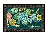 Studio M MatMates Boho Succulents Spring Summer Decorative Floor Mat Indoor or Outdoor Doormat with Eco-Friendly Recycled Rubber Backing, 18 x 30 Inches