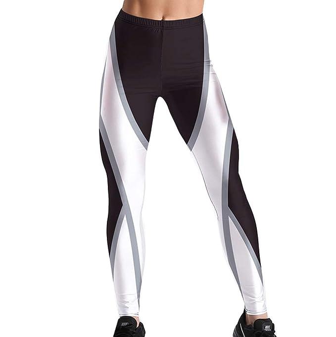Mallas Deportivas Mujer Pantalones Yoga Elastico Cintura ...