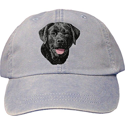 Cherrybrook Dog Breed Embroidered Adams Cotton Twill Caps - Periwinkle - Labrador Retriever