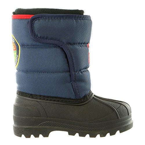 Polo Ralph Lauren Kids Hamilten II EZ Winter Fashion Boot (Toddler/Little Kid/Big Kid), Navy/Red, 9 M US - Toddler Polo Ralph Lauren Boots