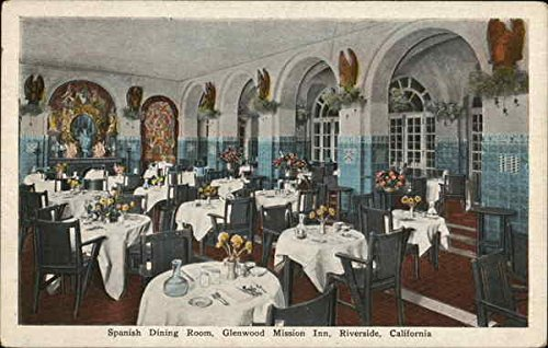 Spanish Dining Room, Glenwood Mission Inn Riverside, California Original Vintage Postcard