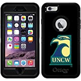 Uncw Seahawk design on Black OtterBox Defender Series Case for iPhone 6 Plus and iPhone 6s Plus
