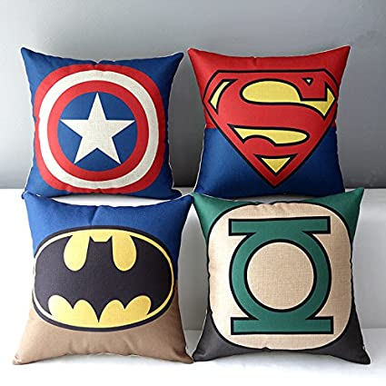 Chicozy Superheroes Style Home Decor Throw Pillow Cover Decorative Pillow  Cushion Collection Pillowcase Gift 45X45CM