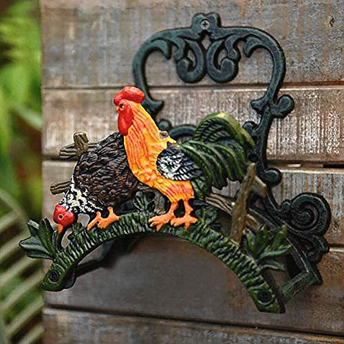 Cast Iron Garden Hose Reel Storage Holder Hose Hanger Holder Wall Mounted Rack Decorative Cock
