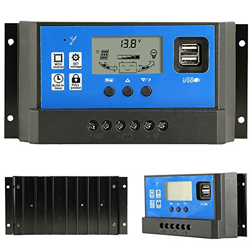 PowMr 60A Solar Charge Controller,Intelligent USB Port Display 12V/24V Auto Charge Regulator by PowMr (Image #1)